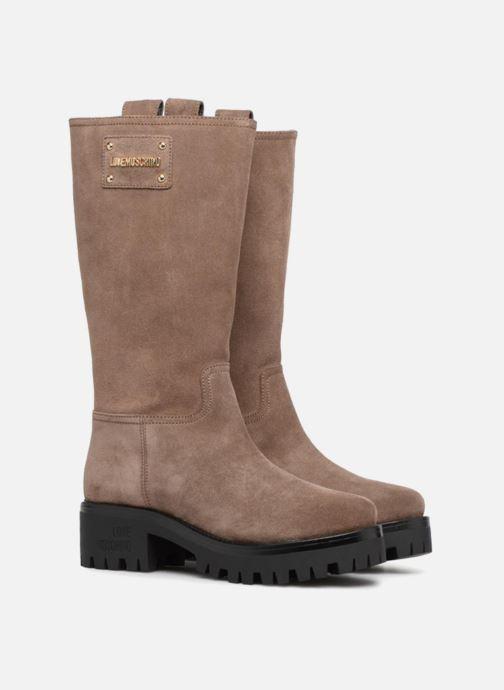 Bottes Love Moschino New Urban Boot Beige vue 3/4