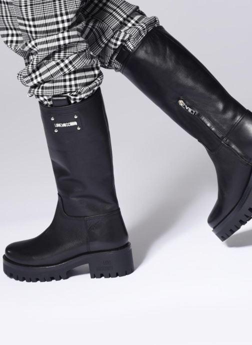 Bottes Love Moschino New Urban Boot Beige vue bas / vue portée sac