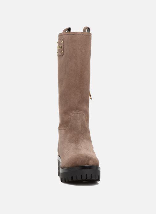 Stiefel Love Moschino New Urban Boot beige schuhe getragen