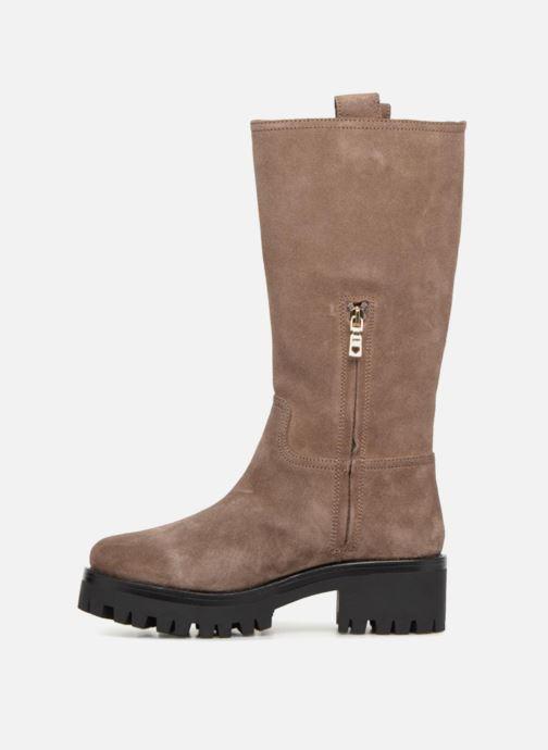 Støvler & gummistøvler Love Moschino New Urban Boot Beige se forfra