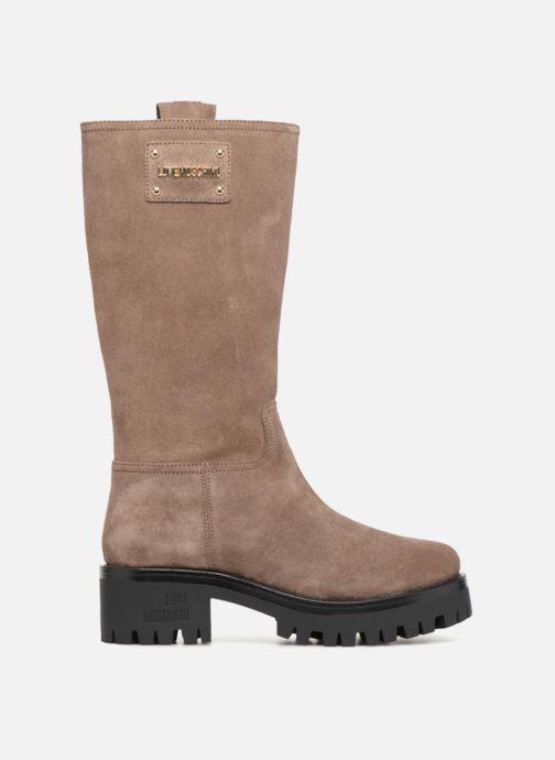 Støvler & gummistøvler Love Moschino New Urban Boot Beige se bagfra