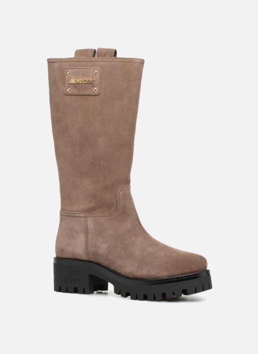 Bottes Love Moschino New Urban Boot Beige vue détail/paire