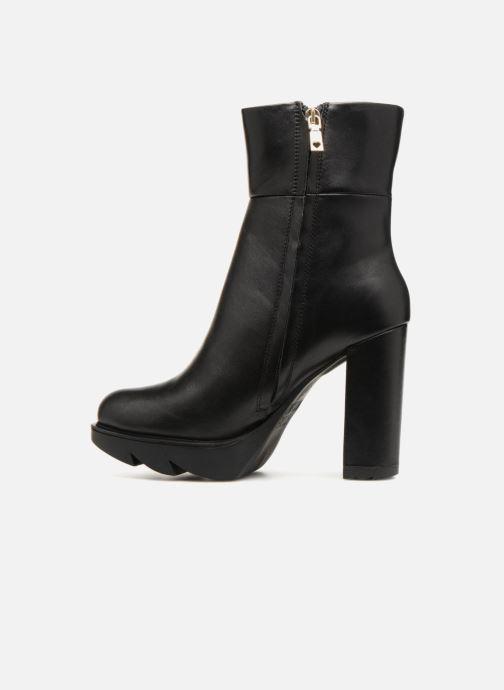 Boots en enkellaarsjes Love Moschino Ankle Boot Gold metal detail Zwart voorkant
