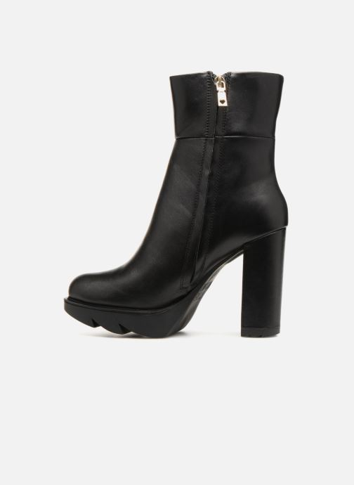Bottines et boots Love Moschino Ankle Boot Gold metal detail Noir vue face