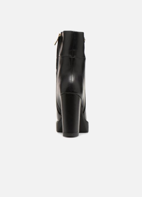 Botines  Love Moschino Ankle Boot Gold metal detail Negro vista lateral derecha