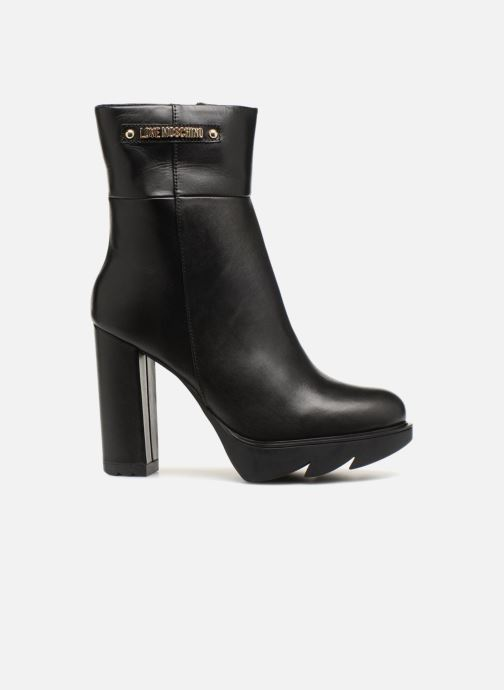 Botines  Love Moschino Ankle Boot Gold metal detail Negro vistra trasera