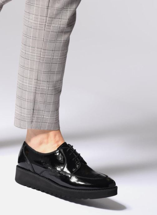 Lace-up shoes Anaki DUSTY Black view from underneath / model view