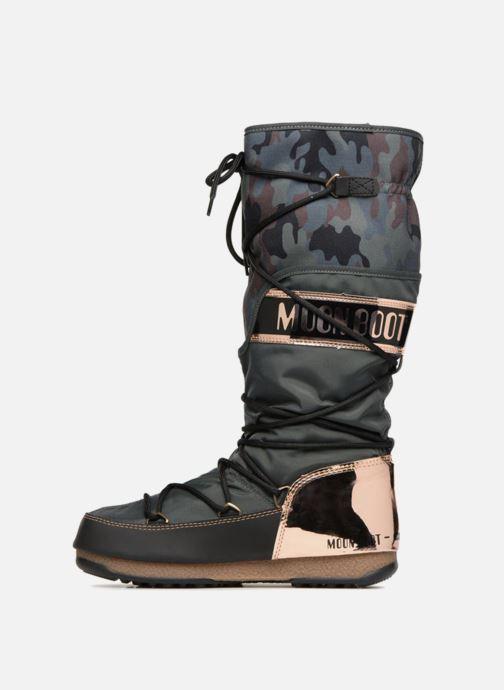 Chaussures de sport Moon Boot anversa camu Vert vue face