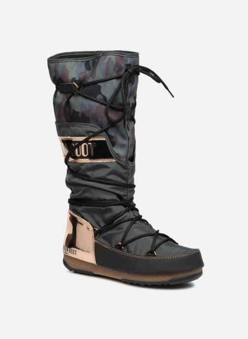 Chaussures de sport Moon Boot anversa camu Vert vue détail/paire