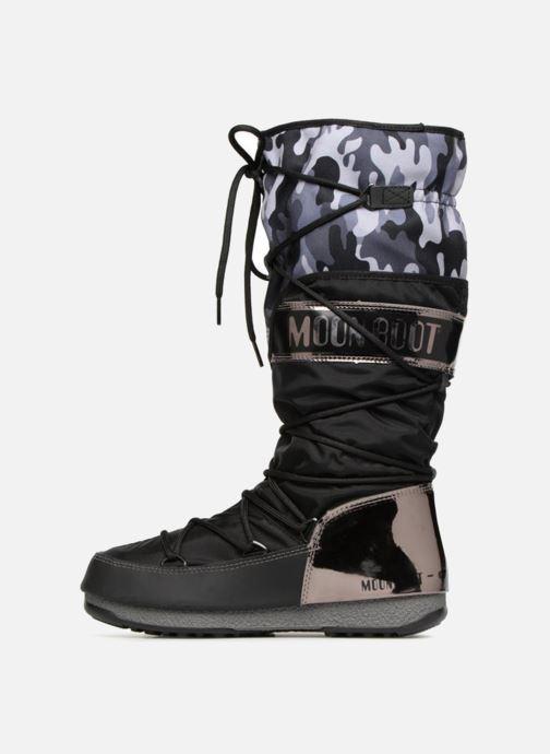 Sportschuhe Moon Boot anversa camu schwarz ansicht von vorne