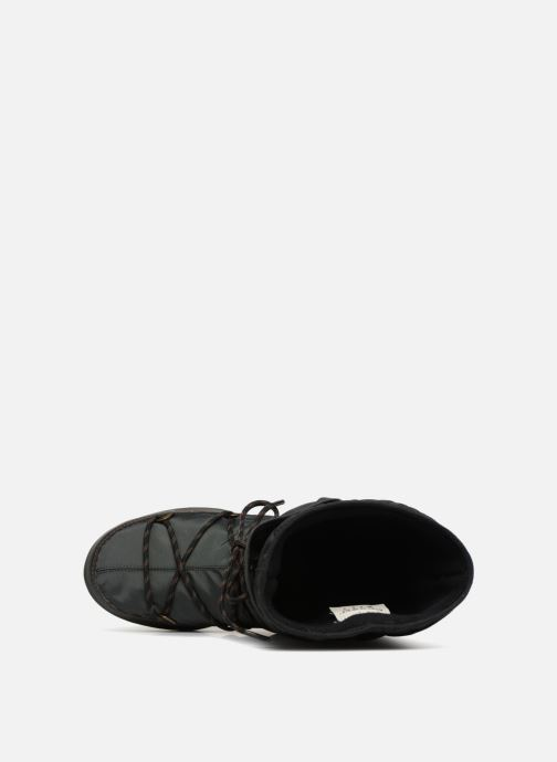 Sport shoes Moon Boot monaco flip Black view from the left