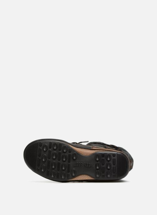 Sport shoes Moon Boot monaco flip Black view from above