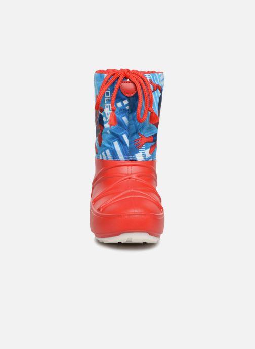 Chaussures de sport Moon Boot Pod JR Spiderman Rouge vue portées chaussures