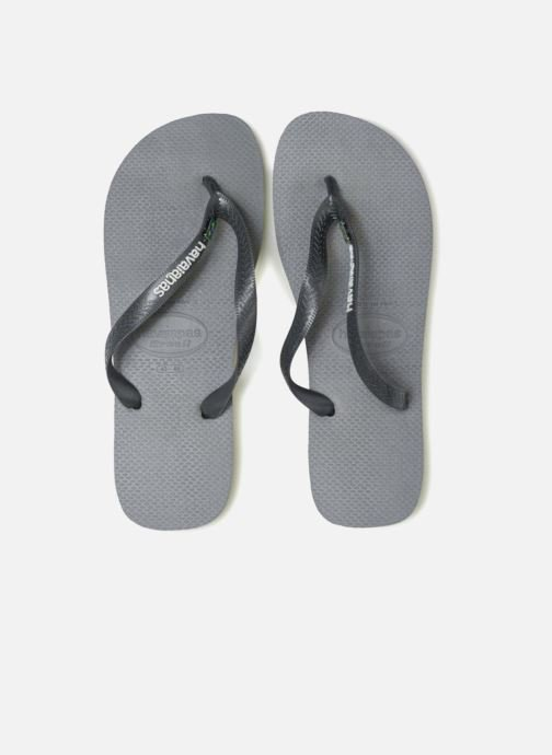 Tongs Havaianas Brasil Layers Gris vue 3/4