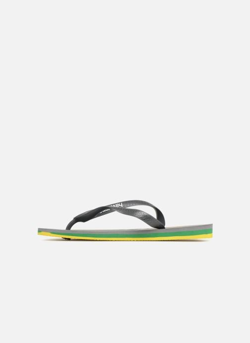 Tongs Havaianas Brasil Layers Gris vue face
