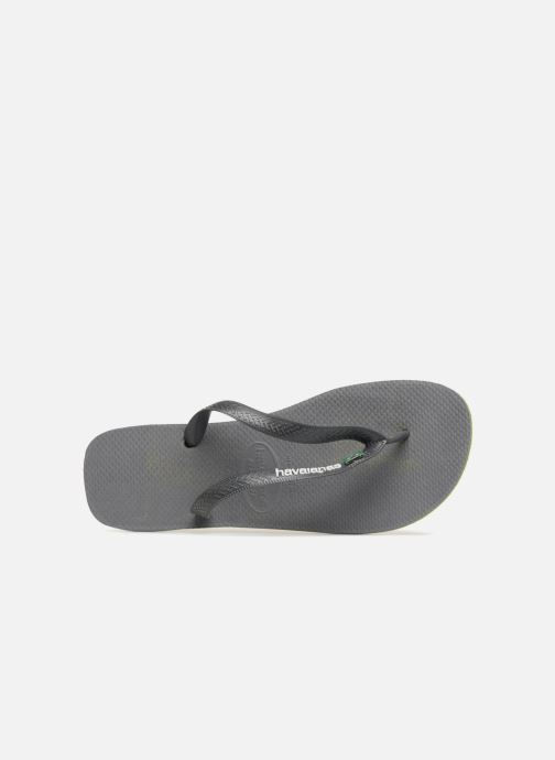 Tongs Havaianas Brasil Layers Gris vue gauche