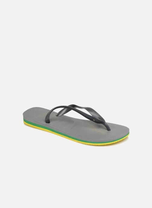 Tongs Havaianas Brasil Layers Gris vue détail/paire