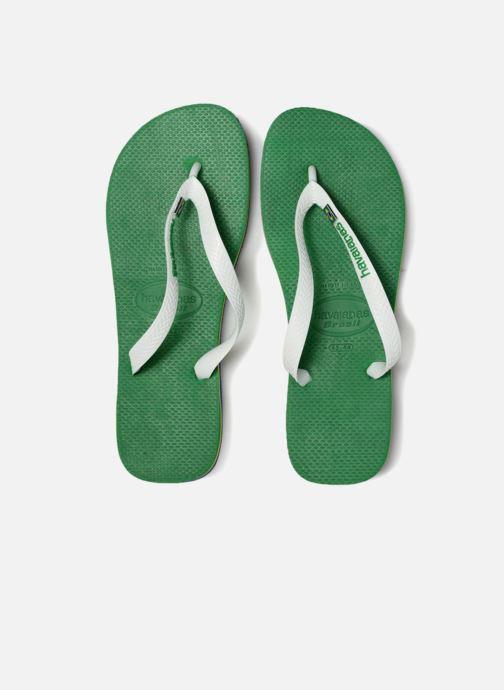 Tongs Havaianas Brasil Layers Vert vue portées chaussures