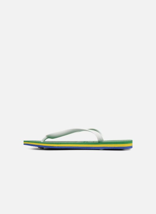 Tongs Havaianas Brasil Layers Vert vue face