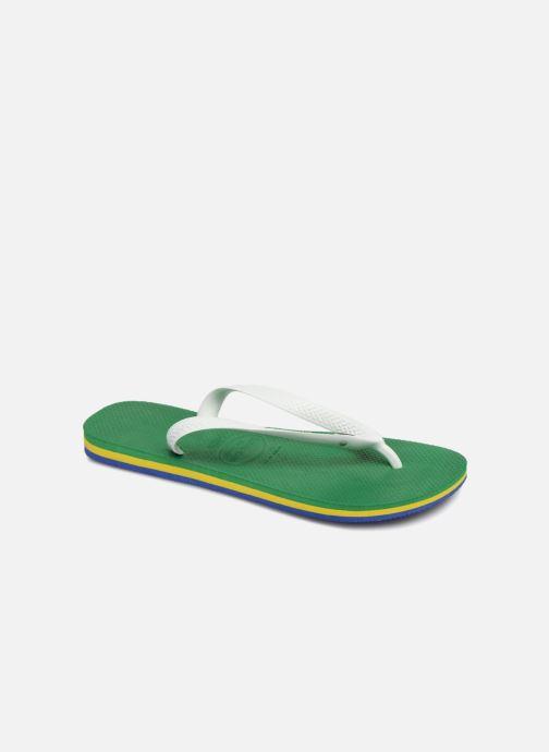 Tongs Havaianas Brasil Layers Vert vue détail/paire