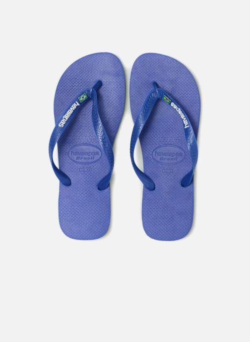 Infradito Havaianas Brasil Layers Azzurro modello indossato