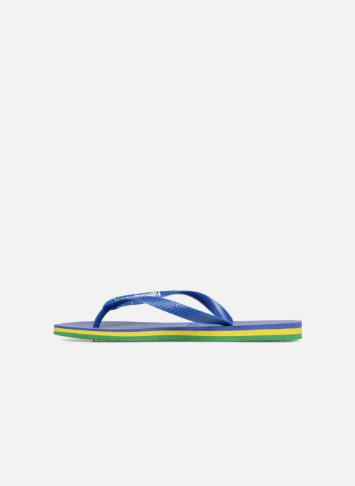 Infradito Havaianas Brasil Layers Azzurro immagine frontale
