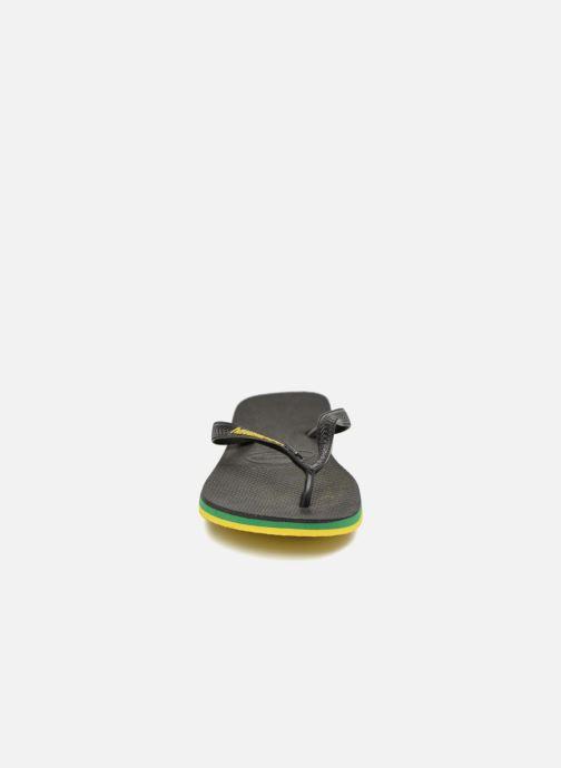 Infradito Havaianas Brasil Layers Nero modello indossato