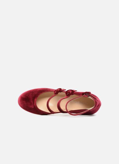 Zapatos de tacón Georgia Rose Edulce Vino vista lateral izquierda
