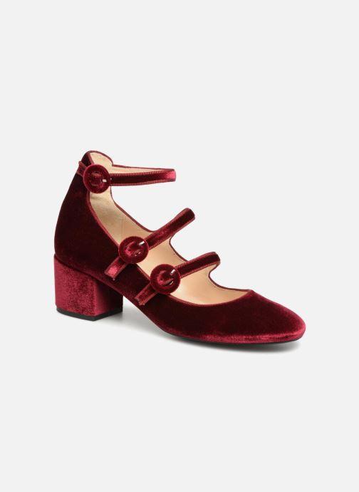 Høje hæle Georgia Rose Edulce Bordeaux detaljeret billede af skoene