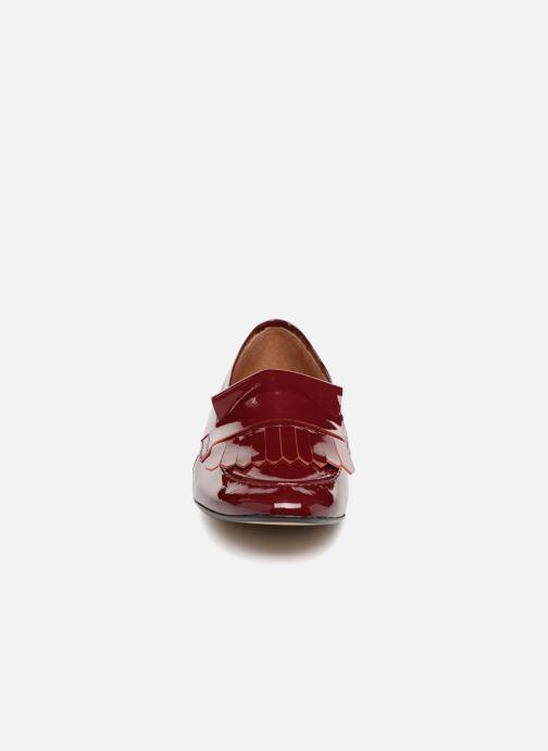 Mocassins Georgia Rose Evelia Bordeaux vue portées chaussures