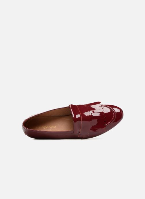 Mocasines Georgia Rose Evelia Vino vista lateral izquierda