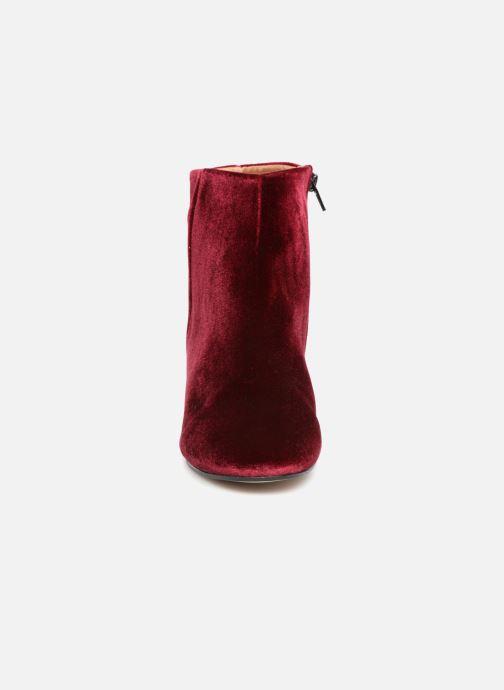 Bottines et boots Georgia Rose Eveludo Bordeaux vue portées chaussures