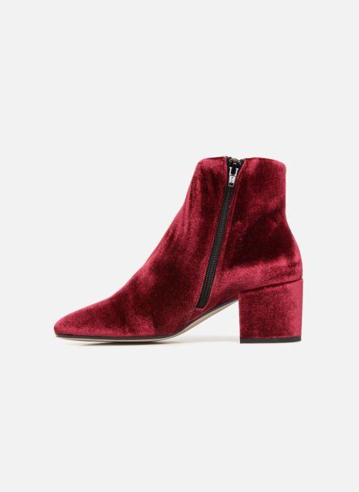 Bottines et boots Georgia Rose Eveludo Bordeaux vue face