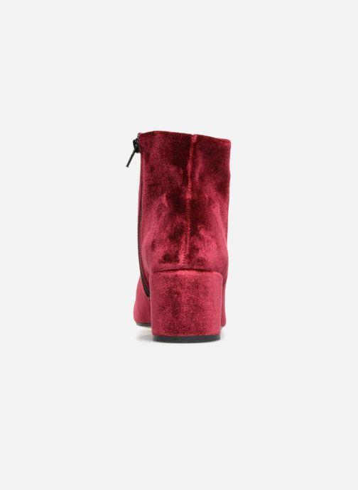 Bottines et boots Georgia Rose Eveludo Bordeaux vue droite