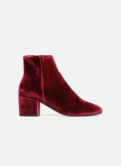 Bottines et boots Georgia Rose Eveludo Bordeaux vue derrière