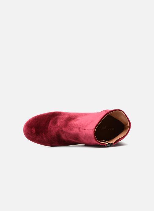 Bottines et boots Georgia Rose Eveludo Bordeaux vue gauche