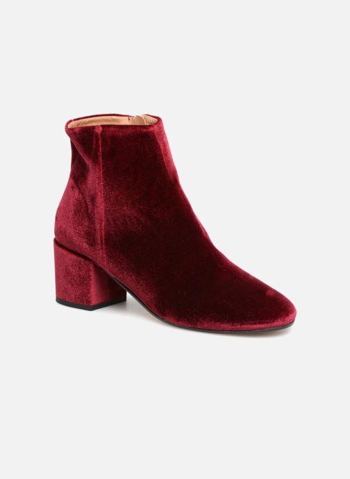 Bottines et boots Georgia Rose Eveludo Bordeaux vue détail/paire