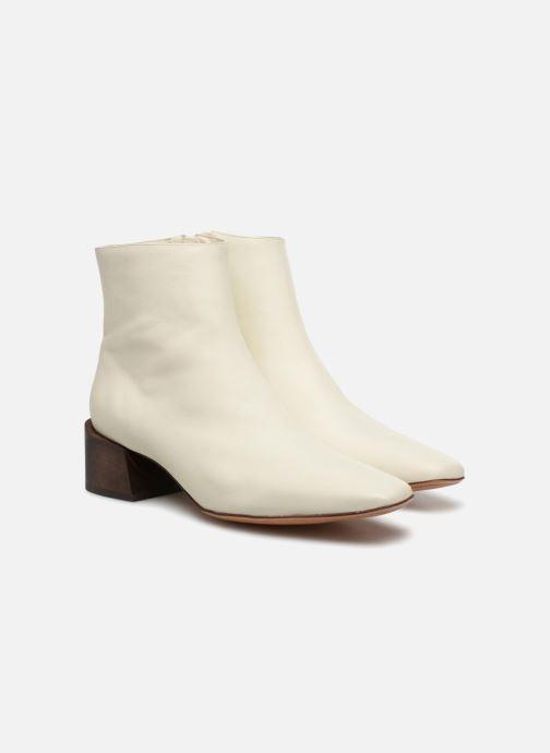 Bottines et boots Mari Giudicelli Classic Boot Blanc vue 3/4