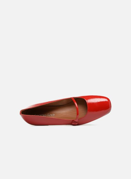Ballet pumps Georgia Rose Ladiam Red view from the left