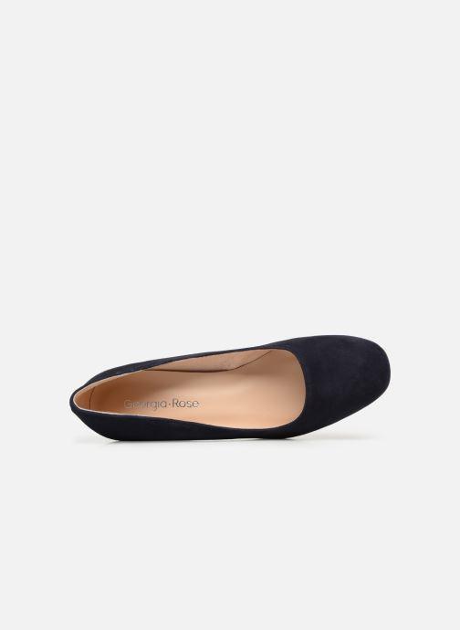 Zapatos de tacón Georgia Rose Lafrima Azul vista lateral izquierda