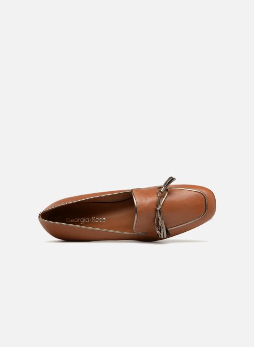 Loafers Georgia Rose Liliana Brown view from the left