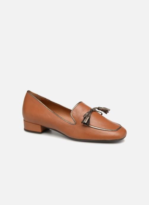 Loafers Georgia Rose Liliana Brown detailed view/ Pair view