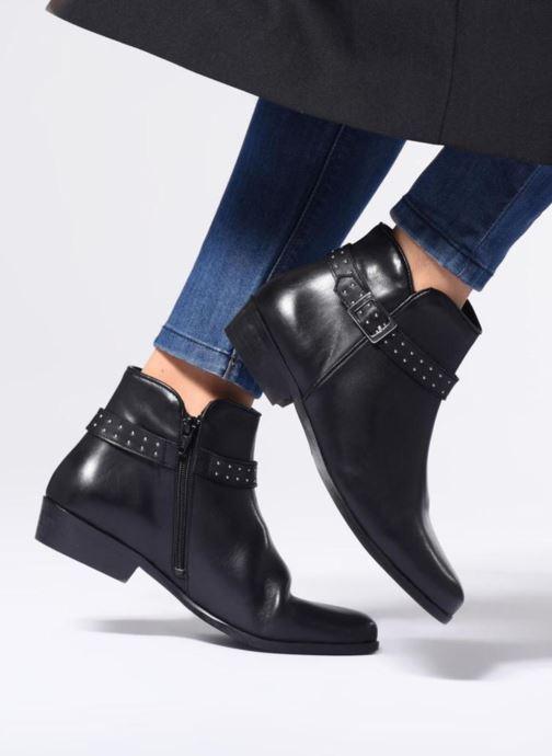 Bottines et boots Georgia Rose Cecloua Marron vue bas / vue portée sac