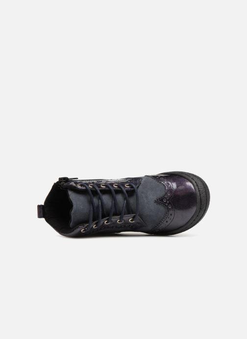 Deportivas I Love Shoes Solina Leather Azul vista lateral izquierda