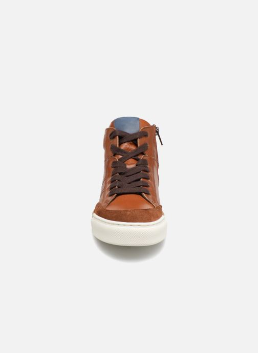 Baskets I Love Shoes Solido Leather Marron vue portées chaussures