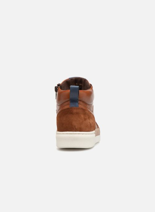 Trainers I Love Shoes Solido Leather Brown view from the right
