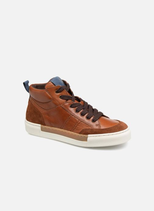 Trainers I Love Shoes Solido Leather Brown detailed view/ Pair view