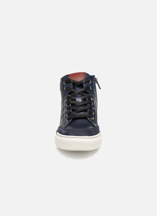 Baskets I Love Shoes Solido Leather Bleu vue portées chaussures