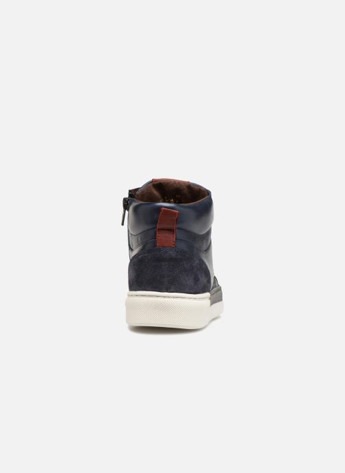 Trainers I Love Shoes Solido Leather Blue view from the right