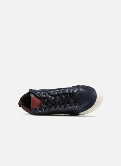 Trainers I Love Shoes Solido Leather Blue view from the left